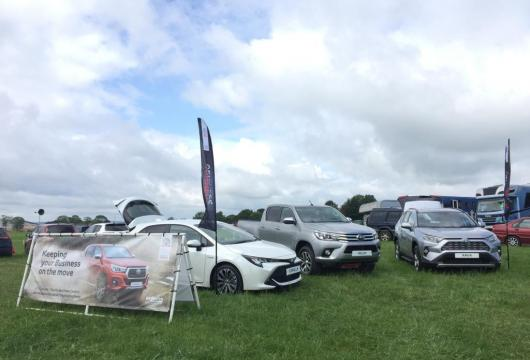 Toyota display at Stafford Horse Trials